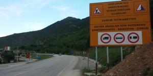 Çorum-Osmancık Karayolu'nun Kırkdilim Bölümü Ulaşıma Kapatıldı