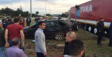 Otomobil Ciple Çarpıştı: 1 Yaralı