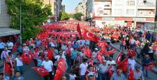 Sungurlu'da 'Demokrasi Yürüyüşü' Düzenlendi