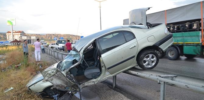 Çorum Kavşağında Kaza: 1 Yaralı