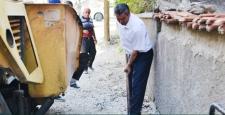 Başkan Çatma , İşçilerle Çalışıyor