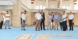 Külcü, Belediye'nin Cami Çalışmalarını İnceledi