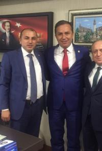 Yeni İl Başkanı Karadağ'ın İlk Ziyareti Ceylan'a