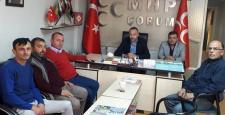 Pazarcılardan, MHP'ye ziyaret