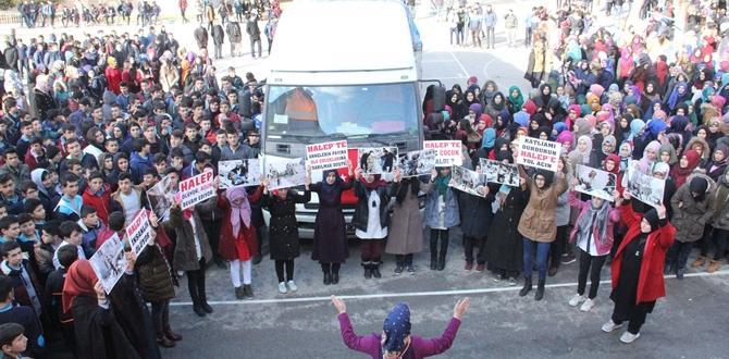 İHL Öğrencilerinden Halep'e Yardım