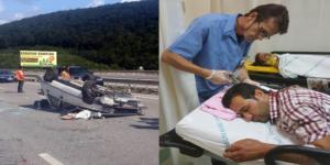 Hastane Dönüşü Kaza Yaptılar