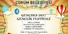 Gençlik Festivali Çorum'a Geliyor