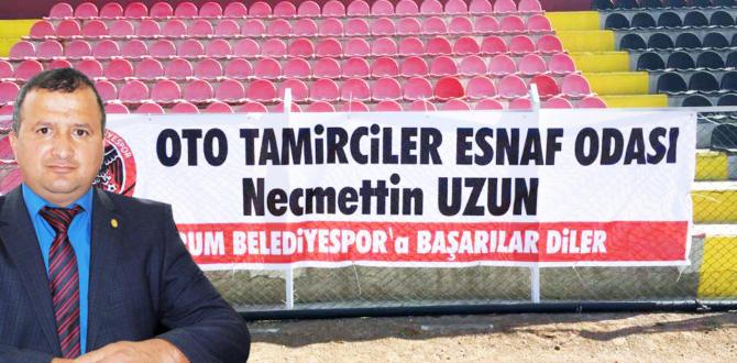 Uzun'dan, Belediyespor'a Pankartlı Destek