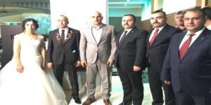Genel Başkan Aras'ın Düğününe Katıldı