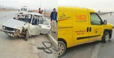 PTT Aracı Kaza Yaptı: 4 Yaralı