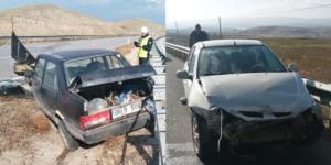İki Araç Çarpıştı: 3 Yaralı