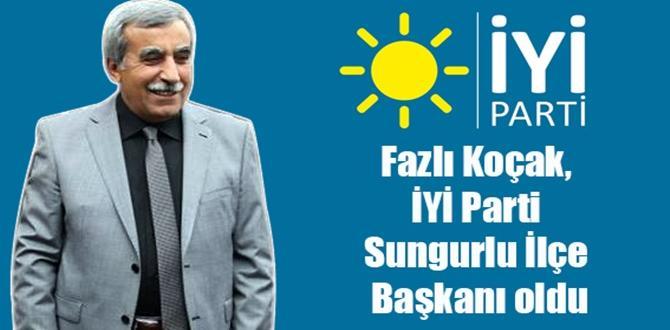 Fazlı Koçak, İYİ Parti Sungurlu İlçe Başkanı Oldu