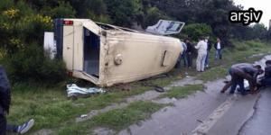 Minibüs Takla Attı: 7 Yaralı