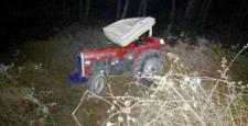 Traktör Dere Yatağına Uçtu: 1 Ölü