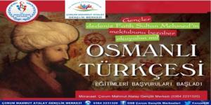 Osmanlıca Kursları Başladı