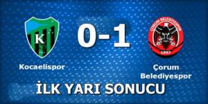 Kocaelispor:0 Çorum Belediyespor:1