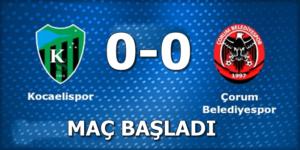 Kocaelispor: 0 Çorum Belediyespor: 0