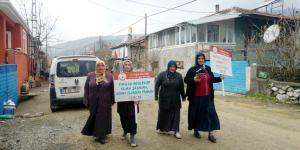 Köylü Kadınlar Sağlıklı Yaşam İçin Yürüdü