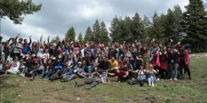 Öğrenciler Dağda Doğa Yürüyüşü Yaptı