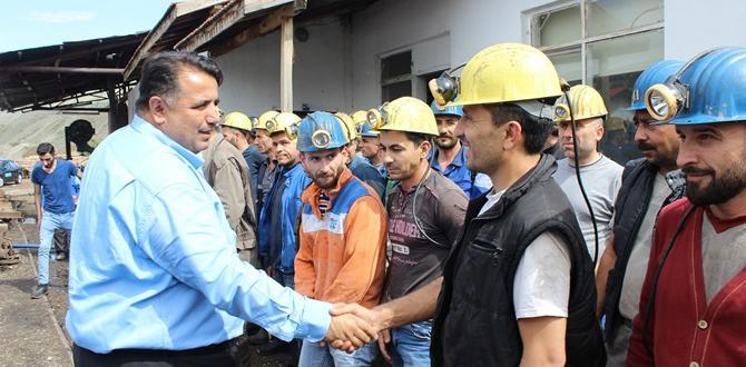Kaya, Maden İşçileri İle Buluştu