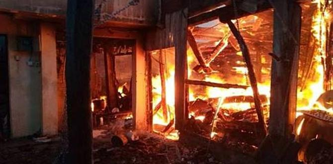 Ateş Közü Bir Evi Tamamen Yaktı