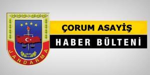 Çorum Jandarma Asayiş Bülteni