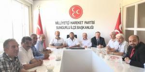 Kavuncu ve Karadağ'dan  MHP'ye Teşekkür Ziyareti