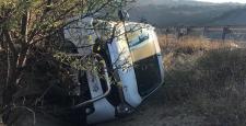 Otomobil Şarampole Devrildi : 1 Yaralı
