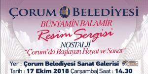 Balamir'in Sergisi 17 Ekim'de Açılıyor