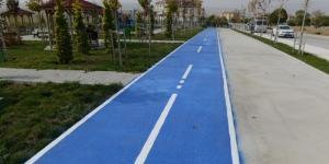 Akkent' e Bisiklet Yolu Yapıldı