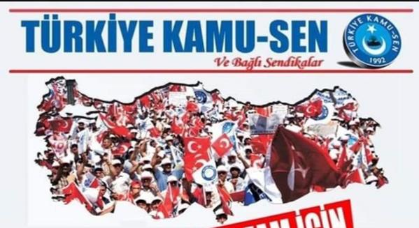 Türkiye Kamu-Sen Ek Zam İçin Alanlarda