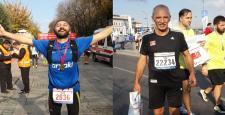Çorumlu Baba-Oğul İstanbul Maratonunda Koştular