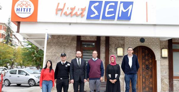 Rektör Alkan'dan HİTİTSEM'e Ziyaret