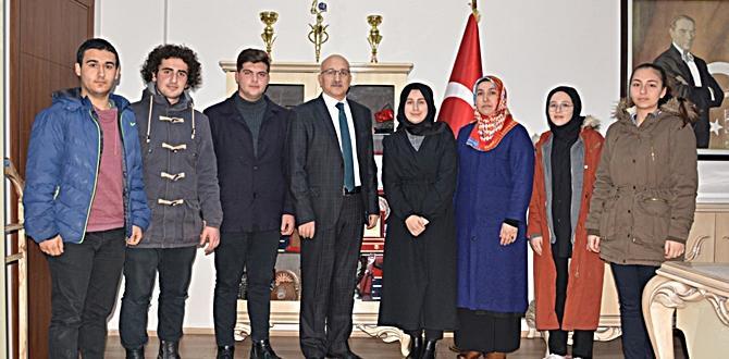 Öğrenci Meclis Başkanı Büyük'ü Ziyaret Etti