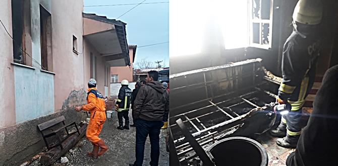 Üyük Köyü'nde Çıkan Yangın Ucuz Atlatıldı