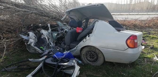 Otomobil Ağaca Çarptı: 2 Kişi Ağır Yaralı