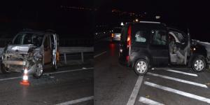 Kaza Yapan Araca Çarptı: 6 Yaralı