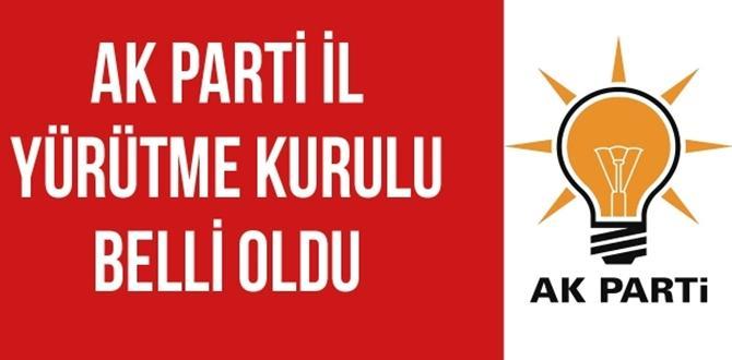 AK Parti İl Yürütme Kurulu Belli Oldu