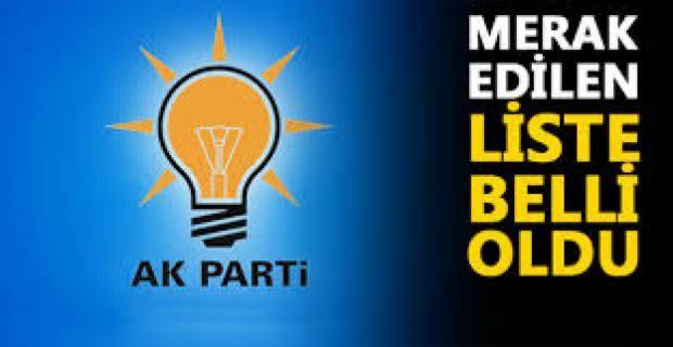 İşte! AK Parti' nin Belediye Meclis Adayları