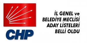 CHP'nin Tam Listesi Belli Oldu