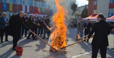 Çorum'da Nevruz Ateşi Yandı