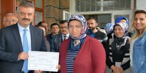 Laçin'de Kursiyerlere Sertifikaları Verildi
