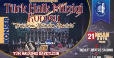 """THM Korosu'ndan """"Türkülerin Dilinden Anadolu"""" Konseri"""