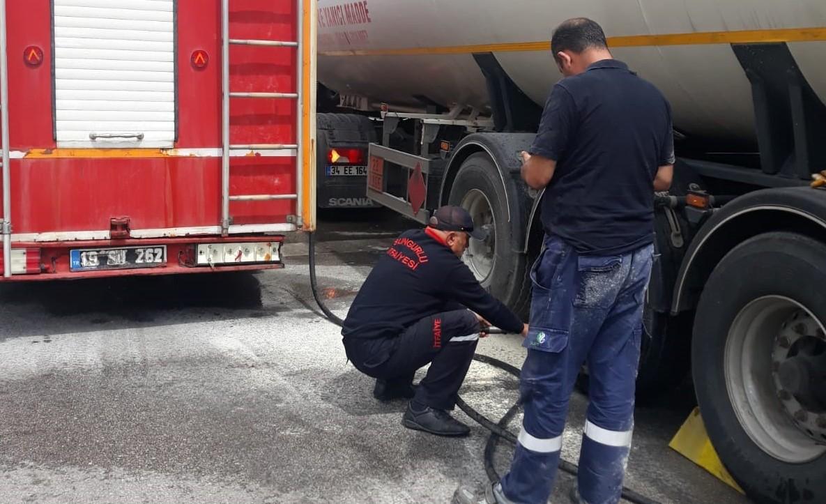 LPG Yüklü Tanker Alev Aldı