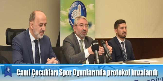 Cami Çocukları Spor Oyunlarında Protokol İmzalandı