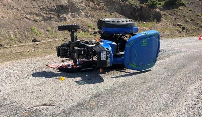 Çorum'da Traktör Devrildi: 1 Ağır Yaralı