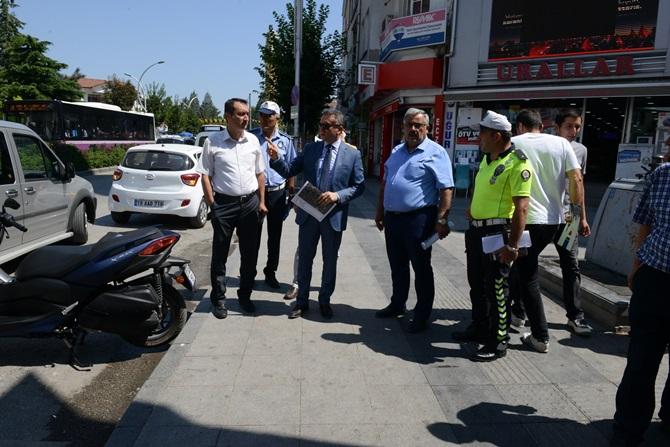 Trafik Komisyonu Yaya Geçişlerini İnceledi