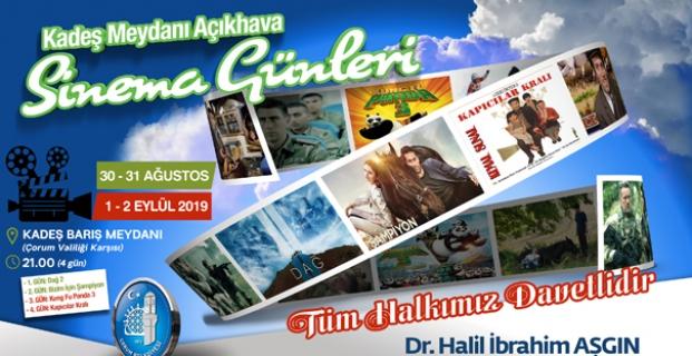 Belediyeden Açık Hava Sinema Günleri Etkinliği