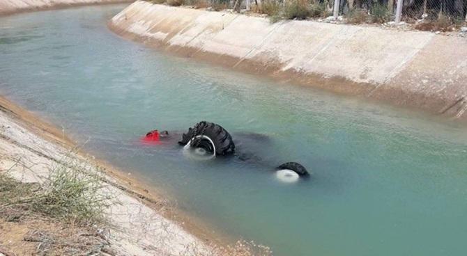 Traktör Su Kanalına Devrildi: 6 Yaralı