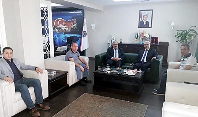 Başkan Gür'den Gülser ve Uzunoğlu'na Ziyaret